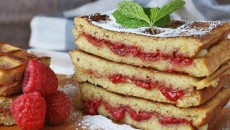 Raspberry Grilled Waffles